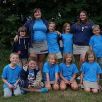 Groepsfoto's en kampvuuravond kamp Balen-Wezel 2016